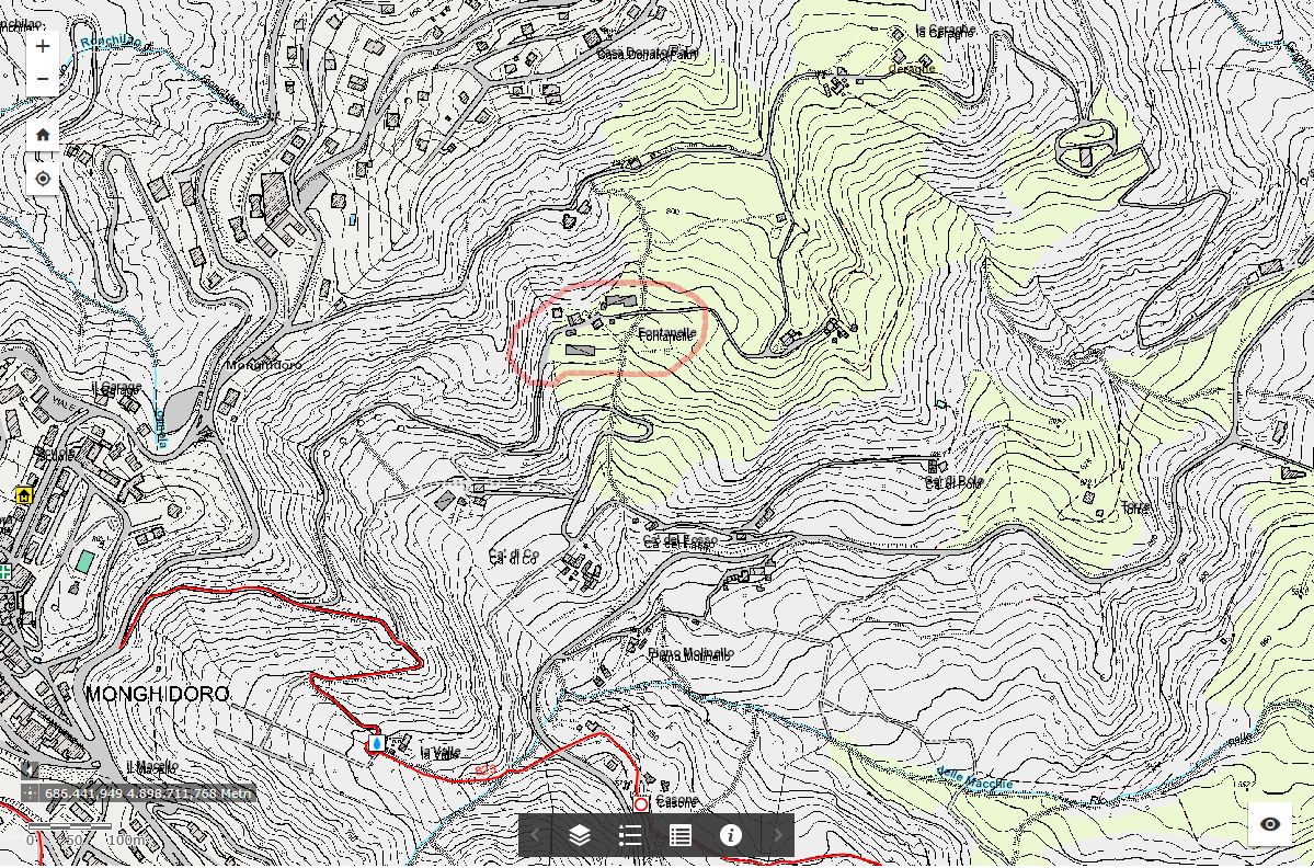 Cartografia per Fontanelle, Monghidoro