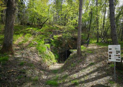 Ingresso Miniera di Gurlano - Situazione attuale della miniera Gurlano al 2020 con cancello di protezione.