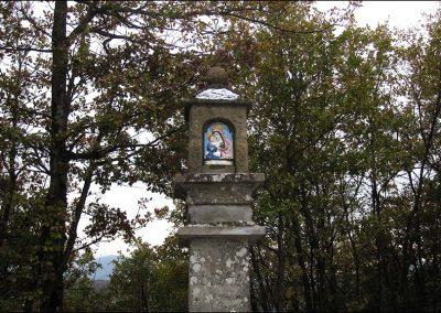Vergiano - Pilastrino di Antonio Monti-particolare dell'immagine della B.V del Piratello