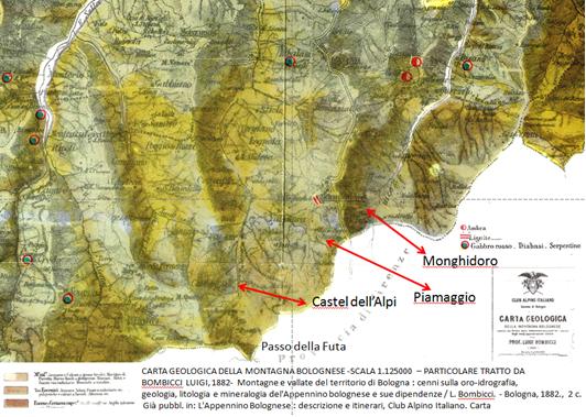 estratto carta geologica Bombicci