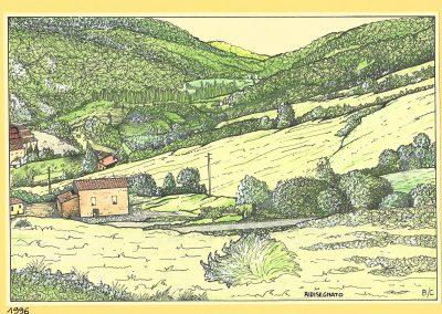 Bisano zona mineraria - Disegno di Claudio Baratta