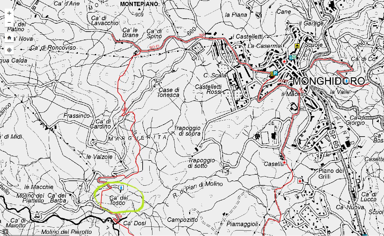 Cà del Tosco - cartografia