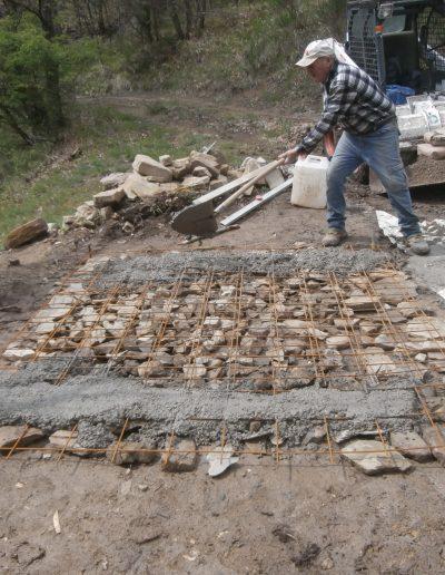 Restauro PIlastrino di Ca' del Tosco - Fase dei Lavori, i primi sassi (Aprile 2014)