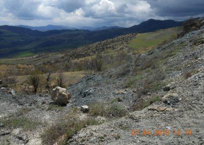 Paesaggio di Argille Scagliose dal crinale sopra La Martina
