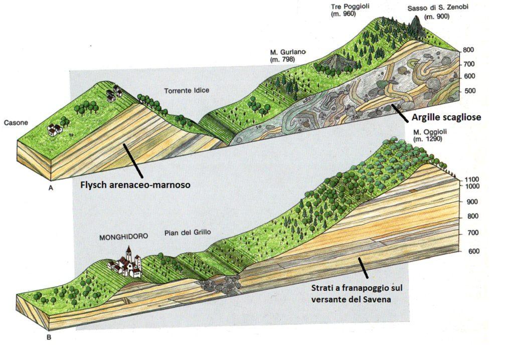 Sezioni tridimensionali del territorio del Comune di Monghidoro