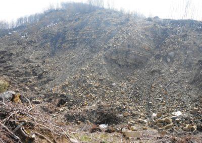 Strati del Flysch nell'area di frana del Rio degli Ordini (2013)