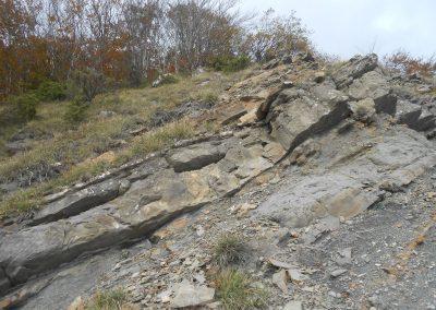 Strati rocciosi, cima di Monte Freddi