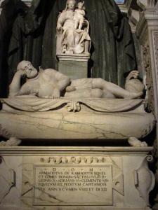 Alfonso Lombardi, Monumento funebre di Armaciotto de' Ramazzotti, 1528-1533 (foto del 15 settembre 2015)
