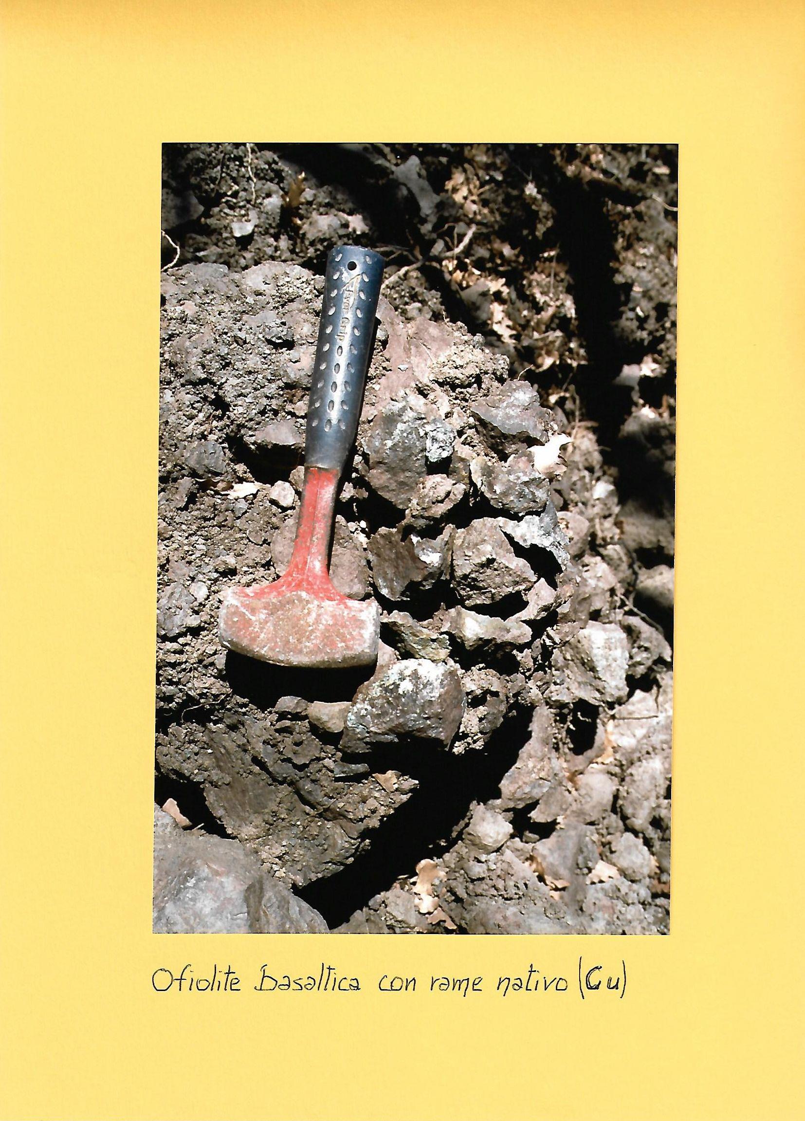 Ritrovamento rame nativo su basalto alta valle dell'Idice