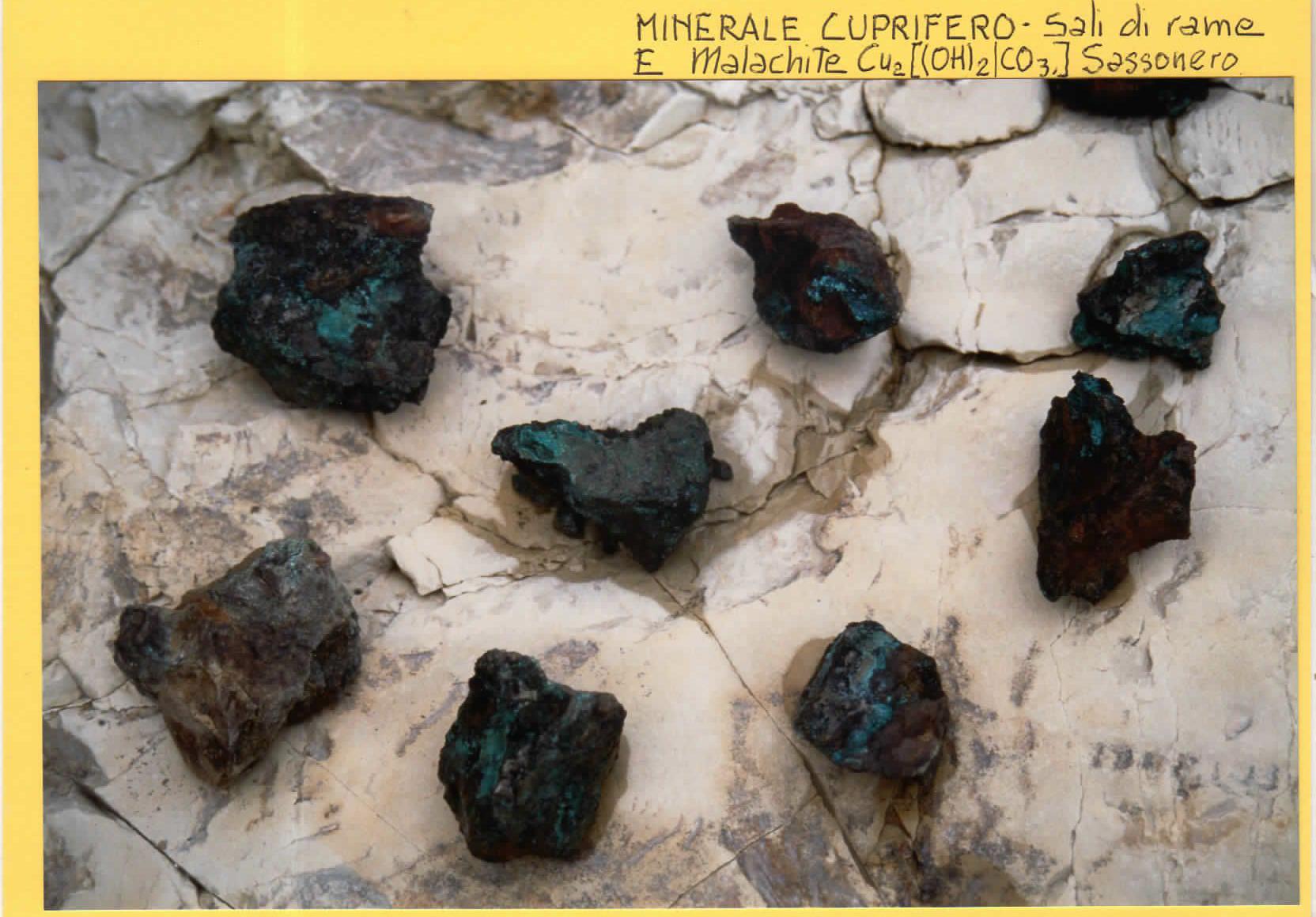 Minerale Cuprifero - Sali di Rame e Malachite